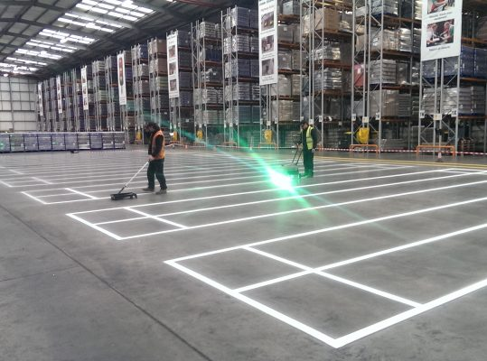 Warehouse line marking planning