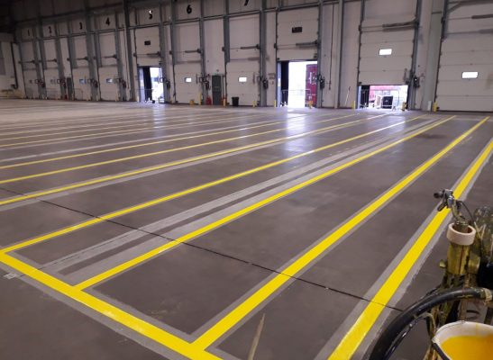Warehouse line marking example