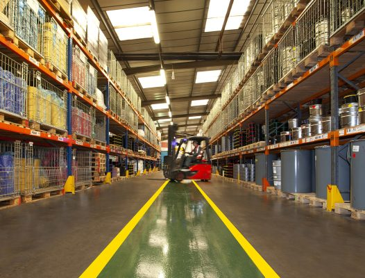 DURAline RapidShield walkways which are durable enough to withstand heavy forklift truck traffic